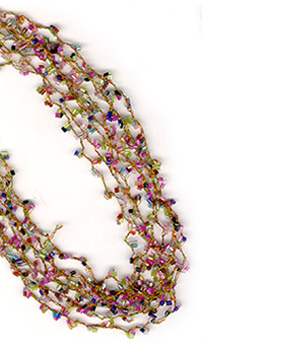 8 strand Mini Bead Necklace