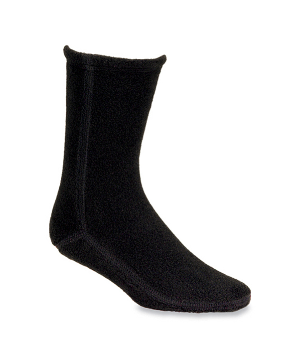 Acorn Fleece Socks-Black