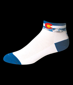 Cycling Socks Colorado Flag Low Cut