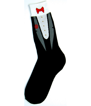 Foot Traffic Mens Tuxedo Socks