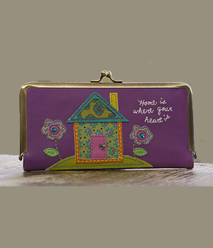 Natural Life Purple House Wallet