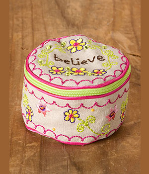 Jewelry Zipper Bag Believe