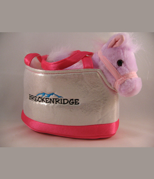 Plush Purse Pink Horse with Breckenridge