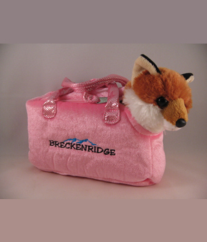 Plush Purse Pink with Fox