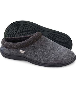 Acorn Slippers Digby Wool Slide Gray