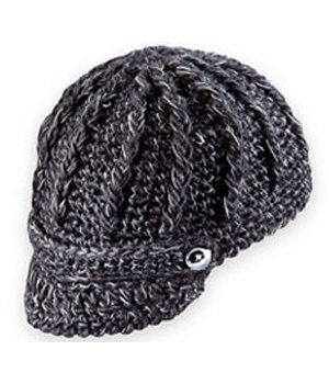 Pistil Knit Hat with Brim Black