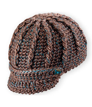 Pistil Knit Hat with Brim Brown