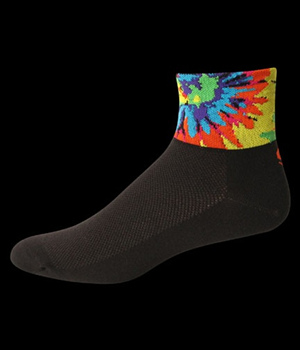Save our Soles Cycling Socks Black Tye Dye