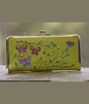 Natural Life Wallet Butterflies Be The Change