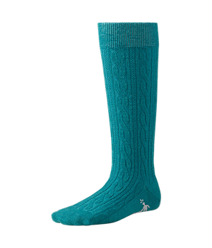 Knee Hi Cable Teal
